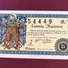 Lotería Nacional: LOTERIA AÑO 1946 SORTEO 21. Lote 171251302