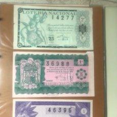 Lotería Nacional: ESPECTACULAR COLECCIÓN COMPLETA DE TODOS LOS AÑOS DESDE 1950 A 1959. Lote 171500760
