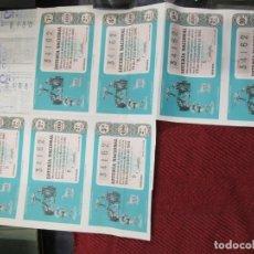 Lotería Nacional: LOTERIA NACIONAL 7 CUPONES DE UN PLIEGO INCOMPLETO, Nº 34162 DIC 1961 ADMON 3 MADRID + INFO 1S. Lote 171619672