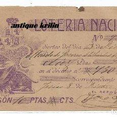 Lotería Nacional: PARTICIPACION LOTERIA NACIONAL .- DICIEMBRE 1903 .- LIT. ROMILLO FUENTES . Lote 171637348