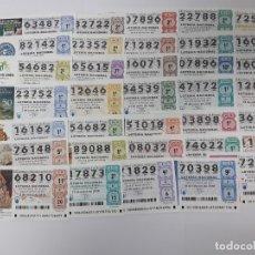 Lotería Nacional: 35 DECIMOS DE LOTERA DIFERENTES DEL AÑO 2018. Lote 147631062