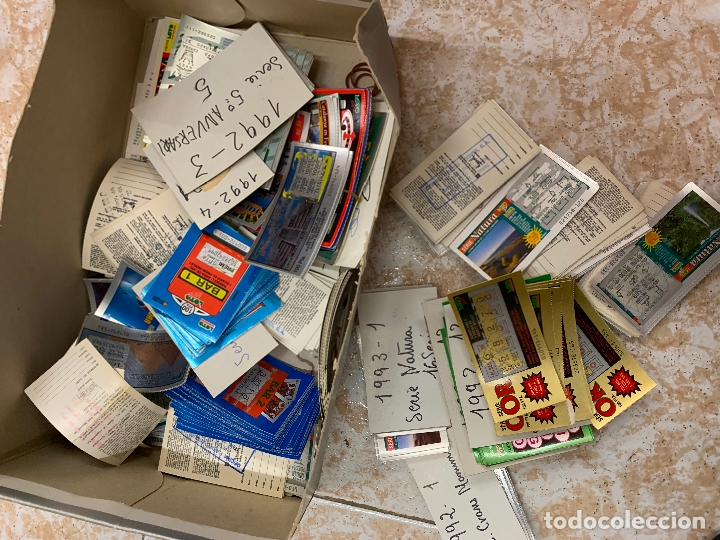 GRAN LOTE DE LOTERIA RASCA-RASCA, LA MAYORIA FOTOGRAFIADOS. DIFERENTES MODELOS Y COLECCIONES (Coleccionismo - Lotería Nacional)