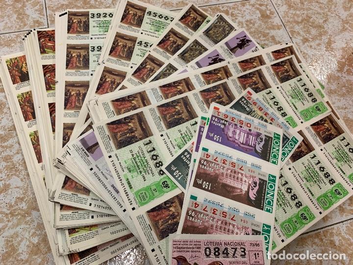 GRAN LOTE DE LOTERIA, MAS DE 3.500 NUMEROS EN HOJAS DE 10 BILLETES (Coleccionismo - Lotería Nacional)