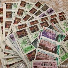 Lotería Nacional: GRAN LOTE DE LOTERIA, MAS DE 3.500 NUMEROS EN HOJAS DE 10 BILLETES. Lote 172067918