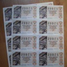 Lotería Nacional: LOTE 8 PLIEGOS BILLETES LOTERÍA NACIONAL 14/85 DEL NÚMERO 35571. Lote 172779422