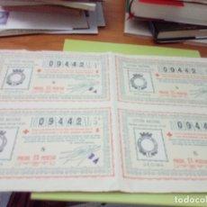 Lotería Nacional: 4 DECIMOS DE LA LOTERIA NACIONAL. SORTEO 29 DE 1936. Nº 09442. C7CR. Lote 173589892