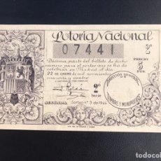 Lotteria Nationale Spagnola: LOTERIA AÑO 1944 SORTEO 3. Lote 173853927