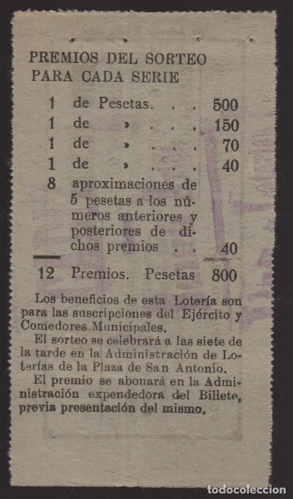 Lotería Nacional: CADIZ. LOTERIA PATRIOTICA, SORTEO Nº 93, 6 ABRIL 1937, VER FOTOS - Foto 2 - 173895338