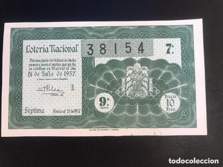 LOTERIA AÑO 1957 SORTEO 21 (Coleccionismo - Lotería Nacional)
