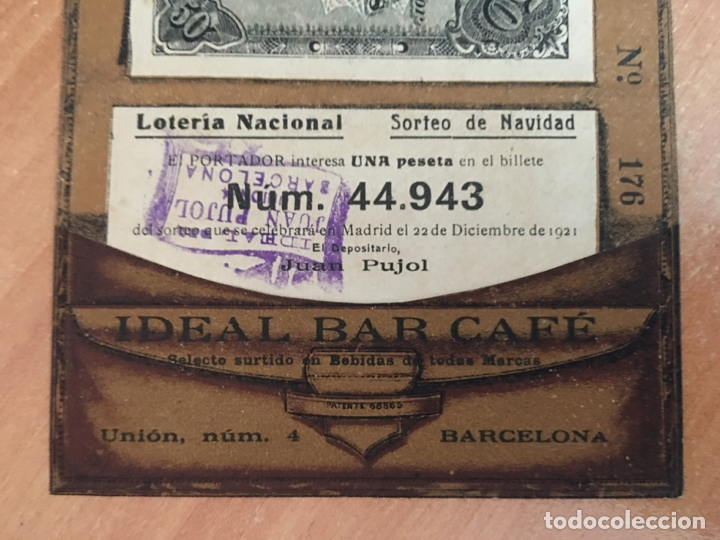 Lotería Nacional: PRECIOSA PARTICIPACION EN FORMA DE CARTERA DE LOTERIA NACIONAL SORTEO NAVIDAD 1921. (COIB27) - Foto 2 - 173982253