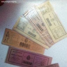 Lotería Nacional: LOTERIA - REAL CASA DE CARIDAD DE BARCELONA RIFA 1881 Y 1877. LOTE DE 6 BOLETOS. Lote 175332229