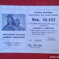 Lotería Nacional: PARTICIPACIÓN DE LOTERÍA NACIONAL LOTTERY 1994 NERVIÓN SEVILLA ANTIGUAS ALUMNAS SALESIANAS ASOCIACIÓ. Lote 175485835
