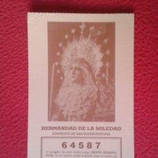 Lotería Nacional: PARTICIPACIÓN DE LOTERÍA NACIONAL 1992 LA SOLEDAD CONVENTO SAN BUENAVENTURA SEVILLA LA CAMPANA...VER. Lote 175521000