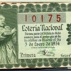 Lotería Nacional: LOTERÍA NACIONAL. AÑO 1956. COMPLETO. TODOS LOS SORTEOS. Lote 175850242