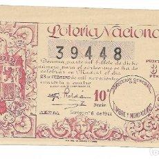 Lotería Nacional: LOTERIA NACIONAL AÑO 1944 SORTEO 6. Lote 176266347