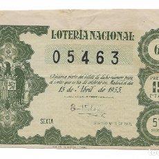 Lotería Nacional: LOTERIA NACIONAL AÑO 1955 SORTEO 11. Lote 176334954