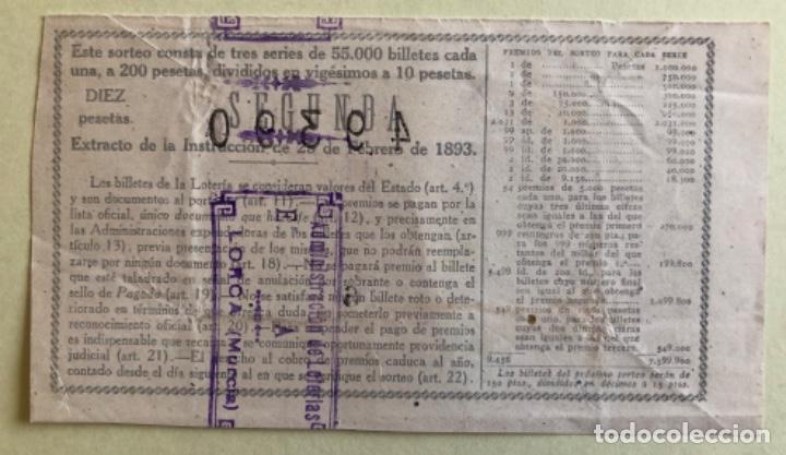 Lotería Nacional: DECIMO LOTERIA NACIONAL- SORTEO 9 AÑO 1943- SELLO LORCA-MURCIA- - Foto 2 - 177184898