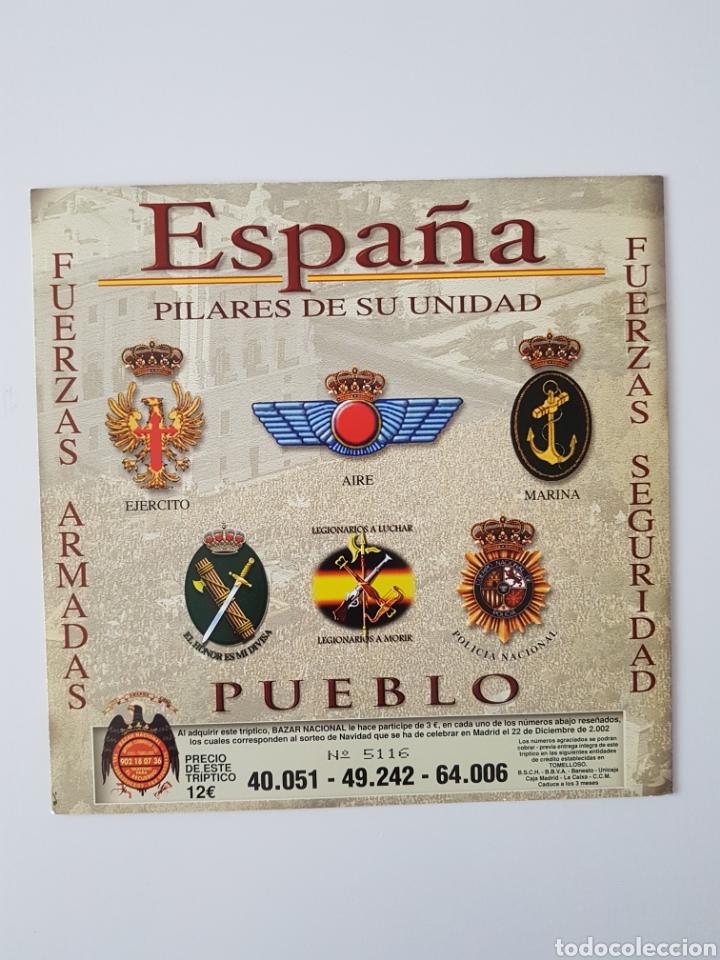 Lotería Nacional: TRIPTICO FRANCO-JOSE ANTONIO LOTERIA NAVIDAD. AÑO 2002 - Foto 2 - 178582933