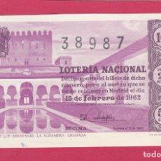 Lotería Nacional: LOTERIA NACIONAL SORTEO 5 DE 1962. Lote 179051633
