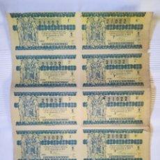 Lotería Nacional: BILLETE COMPLETO DE LOTERÍA 1951. Lote 179774870