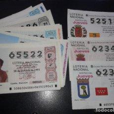 Lotería Nacional: LOTE DE DECIMOS DE LOS 90. Lote 180952606