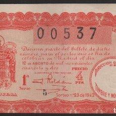 Lotería Nacional: LOTERIA NACIONAL- SORTE: Nº 23 DE 1942, VER FOTOS. Lote 181167333