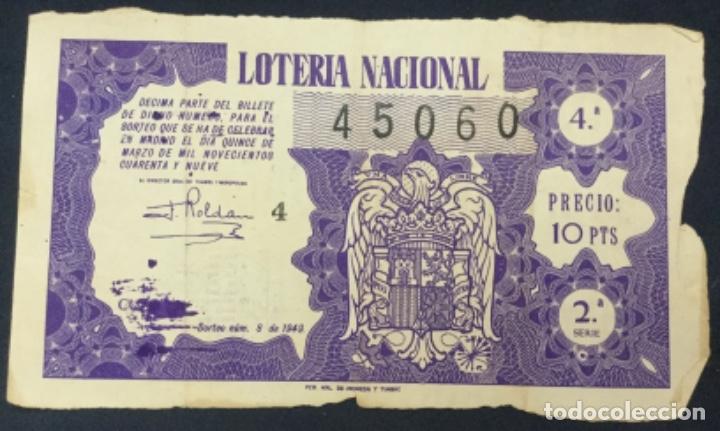 LOTERIA NACIONAL - 1949 SORTEO 8 (Coleccionismo - Lotería Nacional)