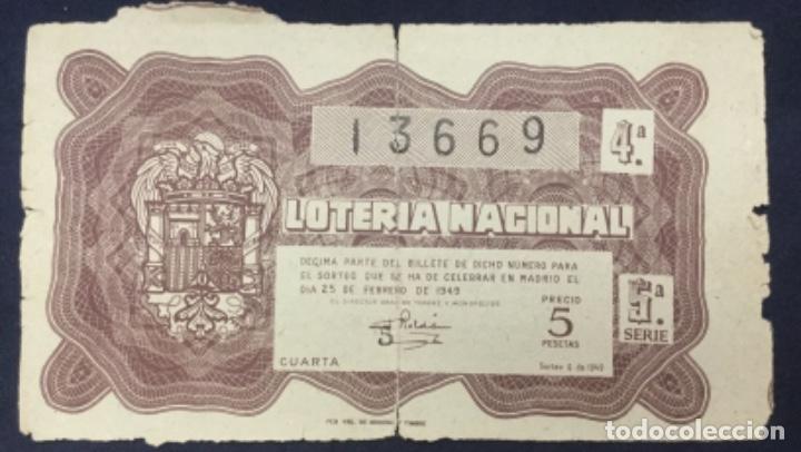 LOTERIA NACIONAL - 1949 SORTEO 6 (Coleccionismo - Lotería Nacional)