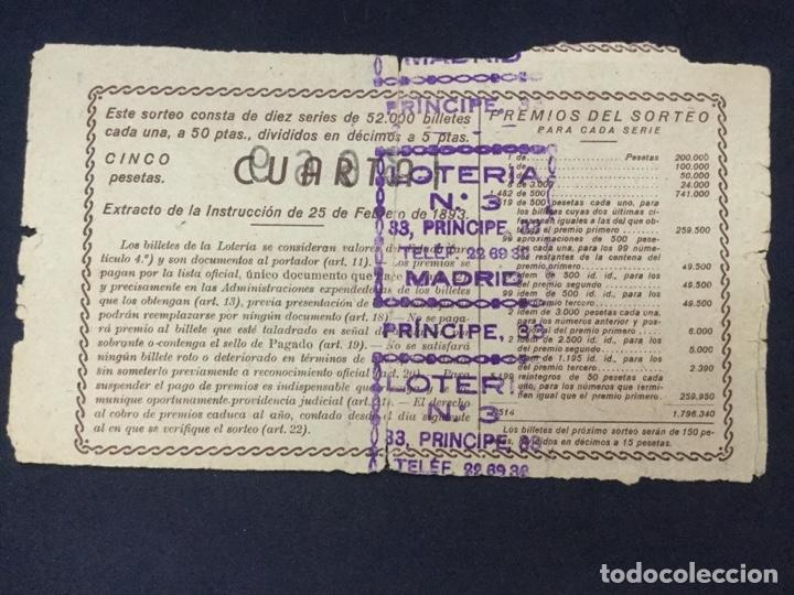 Lotería Nacional: LOTERIA NACIONAL - 1949 SORTEO 6 - Foto 2 - 181546451