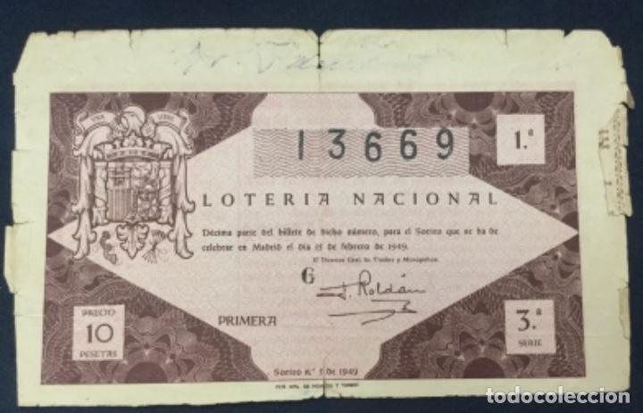 LOTERIA NACIONAL - 1949 - SORTEO 5 (Coleccionismo - Lotería Nacional)
