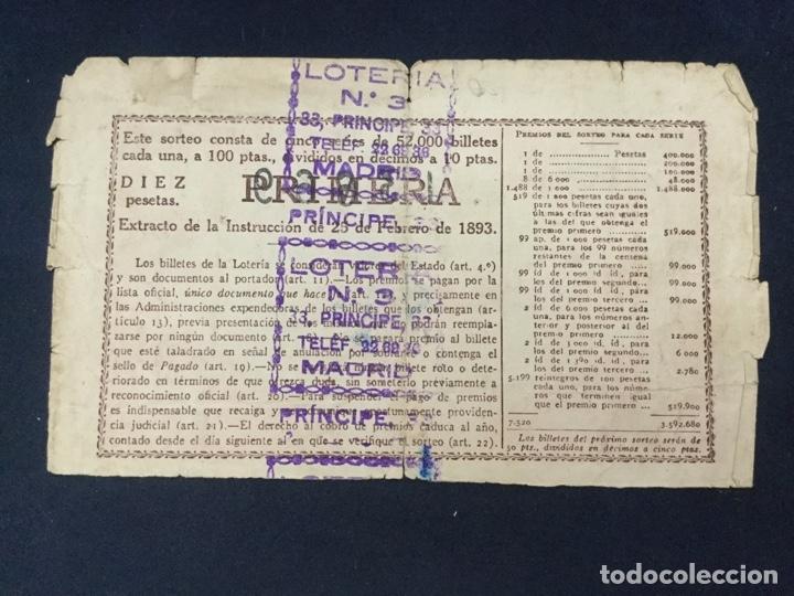 Lotería Nacional: LOTERIA NACIONAL - 1949 - SORTEO 5 - Foto 2 - 181693420