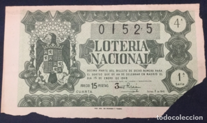 LOTERIA NACIONAL - 1949 SORTEO 2 (Coleccionismo - Lotería Nacional)