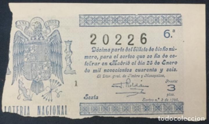 LOTERIA NACIONAL - 1946 SORTEO 3 (Coleccionismo - Lotería Nacional)