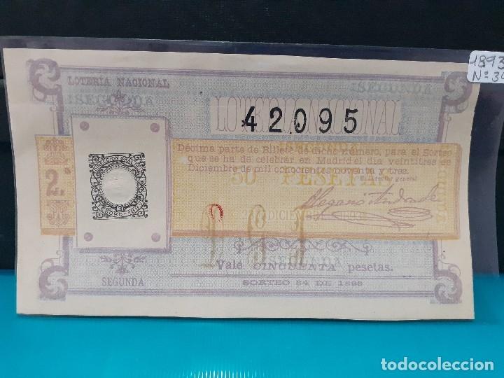 LOTERIA 1893 SORTEO 23 DE DICIEMBRE (Coleccionismo - Lotería Nacional)