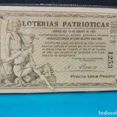 Lotería Nacional: LOTERIA 1937 PATRIOTICO TENERIFE. Lote 182010163