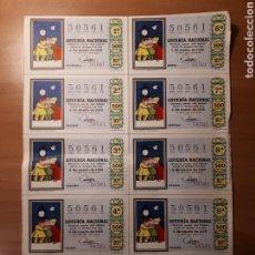 Lotería Nacional: HOJA LOTERIA NACIONAL 4 ENERO 1969. Lote 182023042