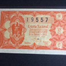 Lotería Nacional: LOTERIA NACIONAL AÑO 1955 SORTEO 6. Lote 183949053