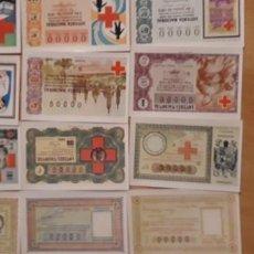 Lotería Nacional: 12 POSTALES DE ** SORTEOS CRUZ ROJA PARA LOTERIA ** Y SOBRE 1981 . Lote 183973608