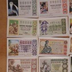 Lotería Nacional: 12 POSTALES DE ** SORTEOS DEL NIÑO PARA LOTERIA ** Y SOBRE 1981 . Lote 183973922