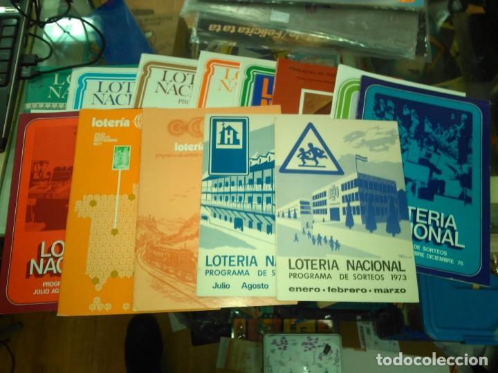 LOTERIA NACIONAL, LOTE 19 PROGRAMA SORTEOS AÑOS 70 Y 80 (Coleccionismo - Lotería Nacional)