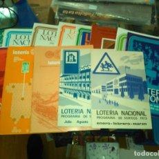 Lotería Nacional: LOTERIA NACIONAL, LOTE 19 PROGRAMA SORTEOS AÑOS 70 Y 80. Lote 183988715