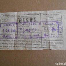 Lotería Nacional: BILLETE LOTERIA AÑO 1923. Lote 184005363