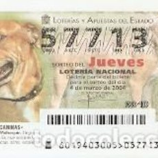 Lotería Nacional: LOTERÍA JUEVES, SORTEO Nº 19 DE 2004. DOGO MALLORQUÍN. REF. 10-0419. Lote 184594832