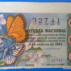 Lotería Nacional: LOTERÍA NACIONAL AÑO 1964, SORTEO 7. Lote 186231185