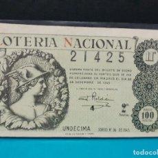 Lotería Nacional: LOTERIA NACIONAL DEL AÑO 1945 SORTEO 36. Lote 186244033