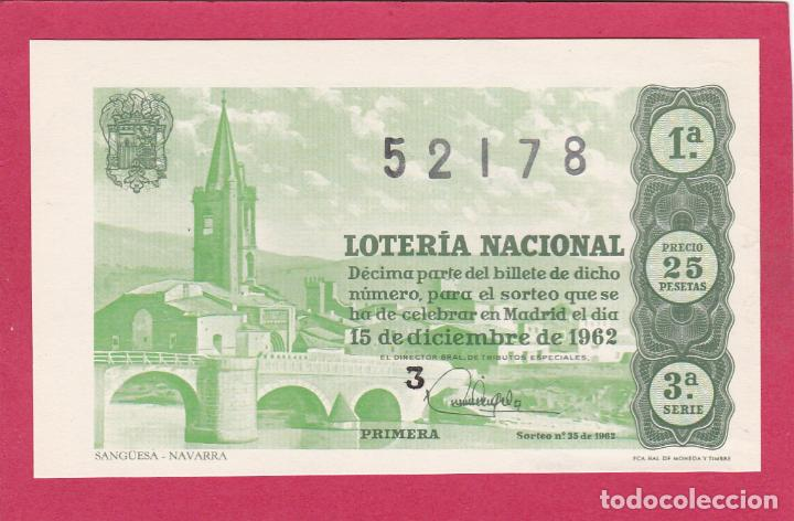 LOTERIA NACIONAL SORTEO 35 DE 1962 (Coleccionismo - Lotería Nacional)