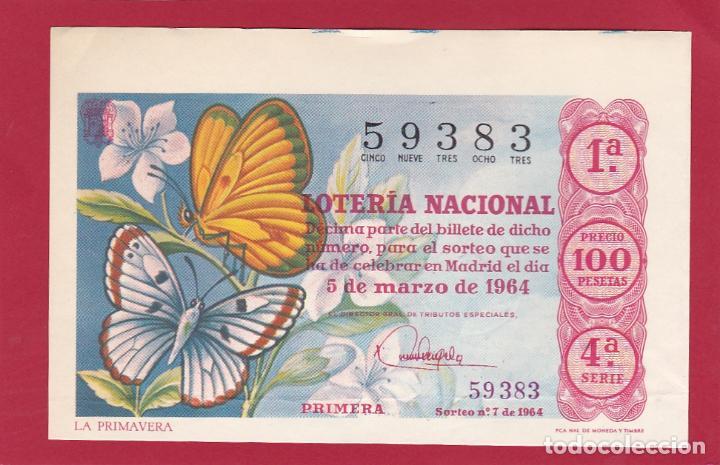 LOTERIA NACIONAL SORTEO 7 DE 1964 (Coleccionismo - Lotería Nacional)