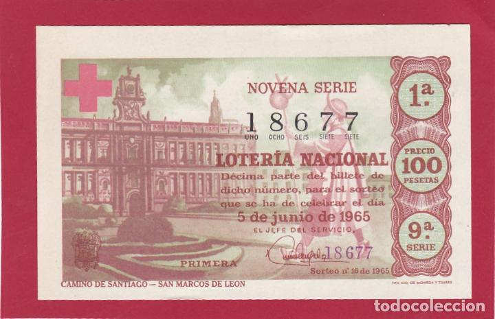 LOTERIA NACIONAL SORTEO 16 CAMINO DE SANTIAGO SAN MARCOS DE LEON (Coleccionismo - Lotería Nacional)