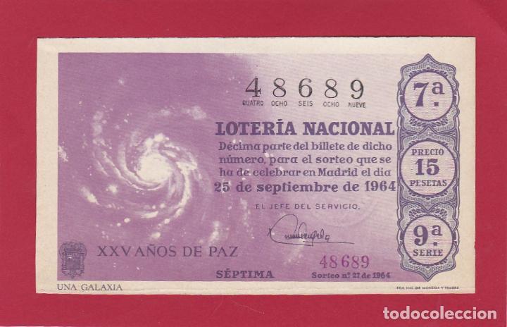 LOTERIA NACIONAL SORTEO 27 DE 1964 (Coleccionismo - Lotería Nacional)