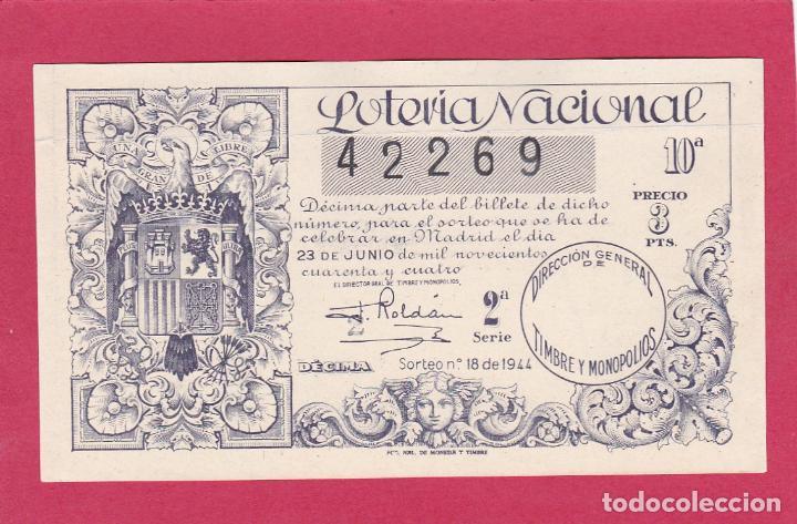 LOTERIA NACIONAL SORTEO 30 DE 1944 (Coleccionismo - Lotería Nacional)